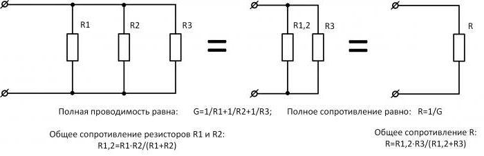 Формула сопротивления тока при параллельном соединении