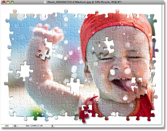 Crea Un Rompecabezas A Partir De Fotos Cómo Hacer Un Rompecabezas De Una Foto Tutorial De Photoshop