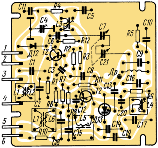 Ocean 214 receiver circuit with printed circuit boards